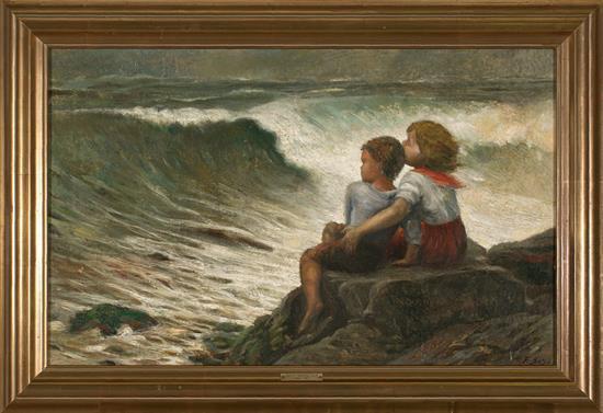 Jacint Bassó i Vila Terrassa 1894 - después de 1951 Children in front of the Sea