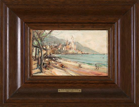 Alve Valdemi del Mare Cremona 1885 - Barcelona 1972 View of Sitges