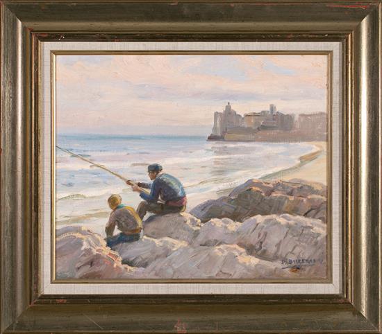 Dionís Baixeras Barcelona 1862 - 1943 Pescadores Óleo sobre lienzo