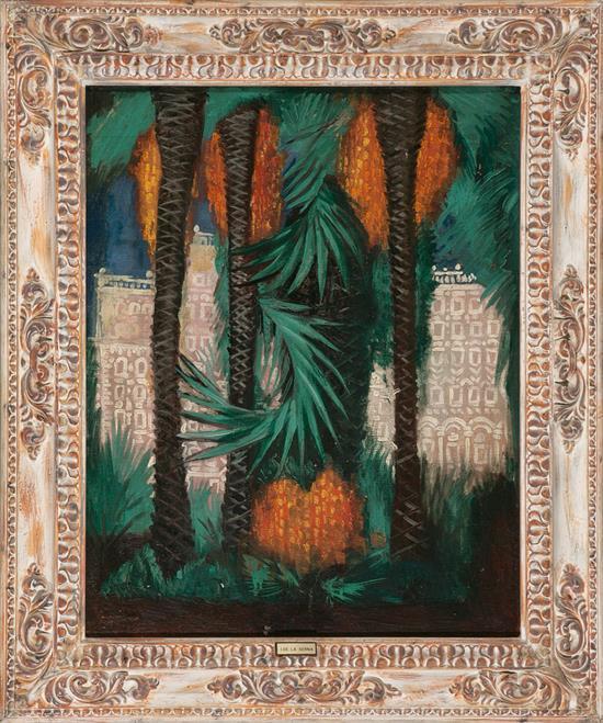 Ismael González de La Serna Guadix 1898 - París 1968. Urban View, possibly Place Massena in Nice