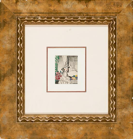 Jean Dupas Burdeos 1882 - París 1964 Estudio para el cartel