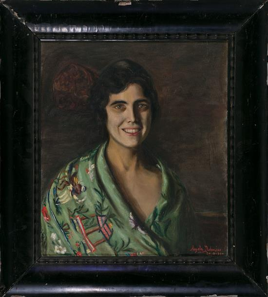 Ángela Dalmau Palamós 1878 - Girona 1957 Young Lady wearing a
