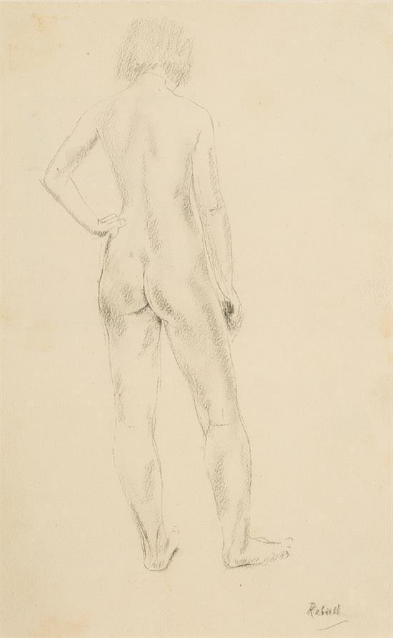 Joan Rebull Reus 1899 - Barcelona 1981 Una joven Dibujo a lápiz y carboncillo sobre papel