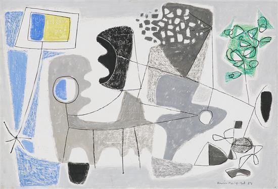 Erwin Bechtold Colonia 1925 Sin título Técnica mixta sobre cartón