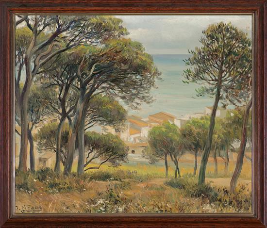 Josep Nogué i Massó Santa Coloma de Queralt 1880 - Huelva 1973 Paisaje Óleo sobre lienzo