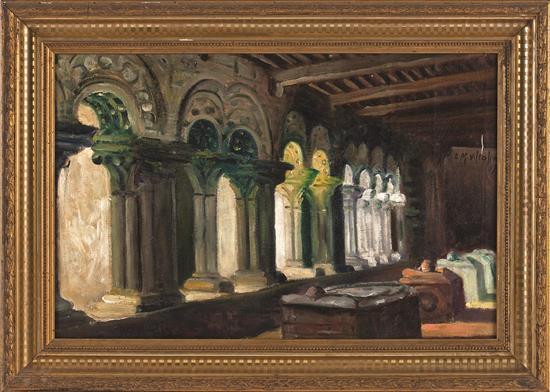Lino Martínez Villafínez Marín 1892 - Santiago de Compostela 1970 Claustro de la colegiata de Santa María del Sar, Santiago de Compo...