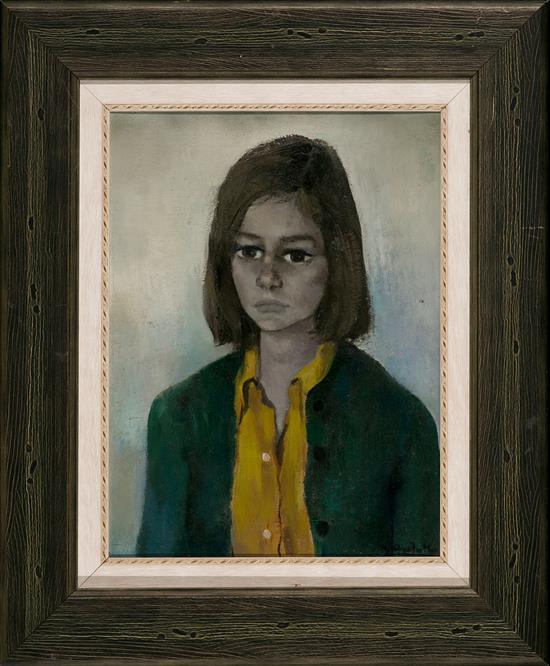 Ramón Aguilar Moré Barcelona 1924 - 2015 Una joven Óleo sobre lienzo
