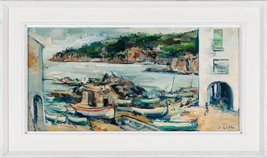 Joan Serra Melgosa Lleida 1899 - Barcelona 1970 Vista de Calella Óleo sobre lienzo