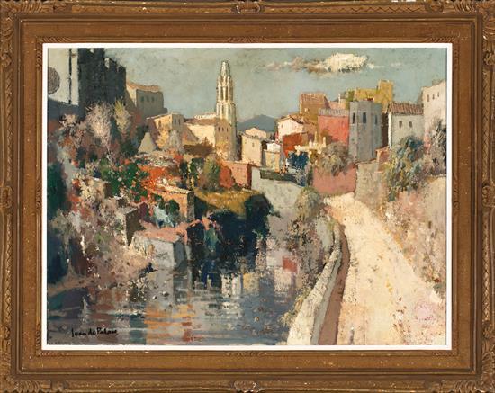 Joan de Palau Flaçà 1919 - Banyoles 1991 View of Girona