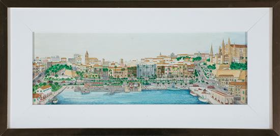 Chemmy Cid de Diego España 1920 - Ariany ? View of Port of Palma de Mallorca