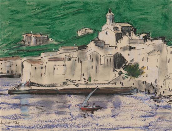 Rafael Durancamps Sabadell 1891 - 1979 Cadaqués Dibujo a ceras y carboncillo sobre papel