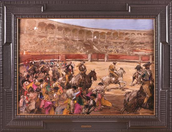 Roberto Domingo Fallola París 1883 - Madrid 1956 Escena taurina Gouache sobre papel