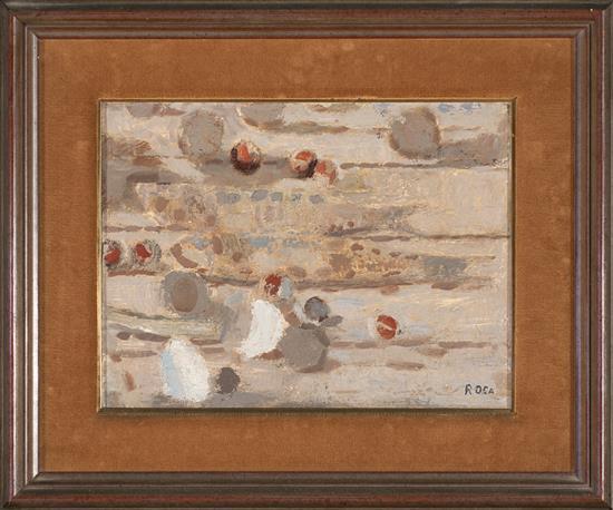 Josep Roca-Sastre Terrassa 1928 - Barcelona 1997 Bodegón de castañas Óleo sobre lienzo