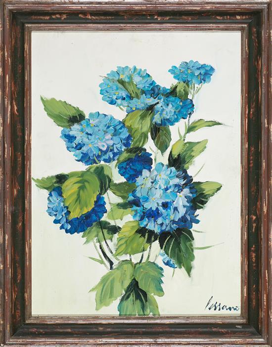 Josep Miquel Serrano Barcelona 1912 - 1982 Flores Óleo sobre lienzo