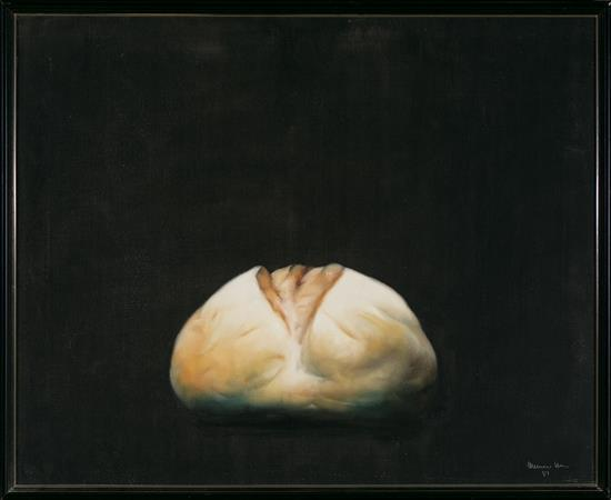Josep Navarro Vives Castelsarrasin 1931 Bodegón de pan Óleo sobre lienzo