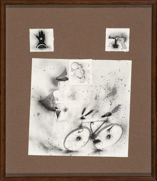 Josep Uclés Barcelona 1952 - La Roca del Vallès 2013 Sin título Lápiz, carboncillo, tinta y lápiz de plata sobre papel