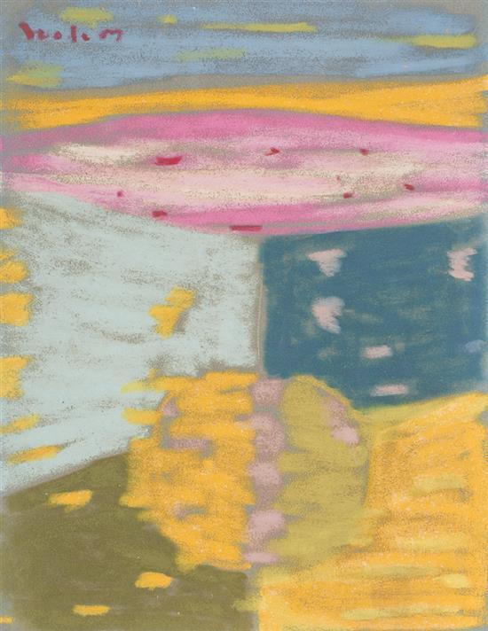 Antonio Corpora Tunisi 1909 - Roma 2004 Composición Dibujo a ceras sobre papel