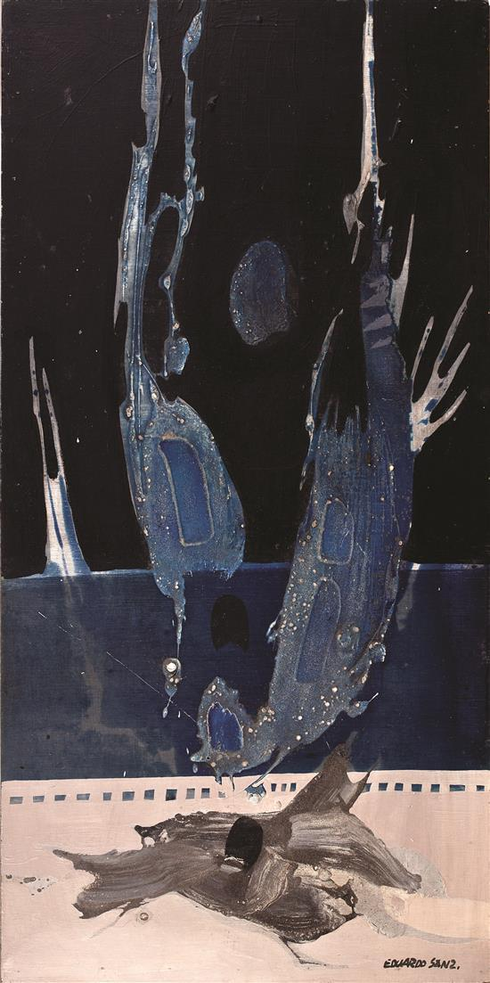 Eduardo Sanz Santander 1928 - Madrid 2013 Fragmento mural para