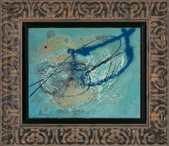 Joan Josep Tharrats Girona 1918 - Barcelona 2001 Sin título Técnica mixta sobre lienzo