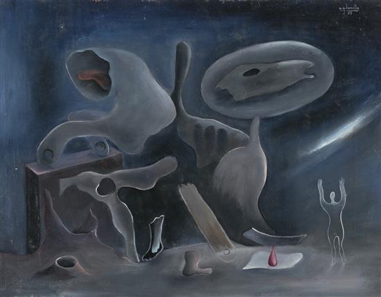 Antoni García Lamolla Martorell 1910 - Dreux 1981 Sin título Óleo sobre lienzo