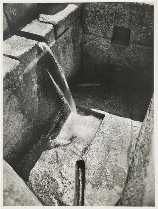 Martín Chambi Jiménez Coaza 1891 - Cuzco 1973 Fountain in Machu Picchu