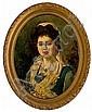 Ramon Martí Alsina Barcelona 1826 - 1894. Una joven Óleo sobre lienzo, Ramón Martí