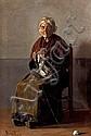 Joan Brull Barcelona 1863 - 1912. Anciana Óleo sobre lienzo, Joan Brull Vinyoles, Click for value
