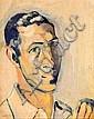Manolo Hugué Barcelona 1872 - Caldes de Montbui 1945. Retrato de Josep Almirall Óleo sobre tabla,  Manolo, Click for value