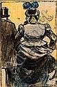 Ricard Opisso Tarragona 1880 - Barcelona 1966. Pareja Dibujo a tinta y lápices de colores, Ricardo Opisso Sala, Click for value