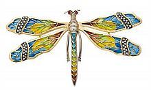 Broche en forma de libélula
