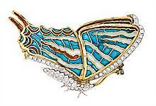 Broche en forma de mariposa