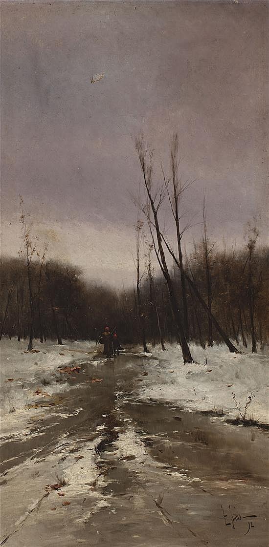 Tomás Sans Corbella Barcelona 1869 - 1911 Paisajes Dos óleos sobre lienzo
