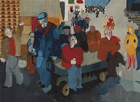 Francesc Artigau Barcelona 1940 Sin título Óleo sobre lienzo