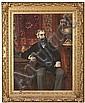 Josep Maria Tamburini Barcelona 1856 - 1932 Retrato de Ricardo Roca Óleo sobre lienzo, José María Tamburini, Click for value