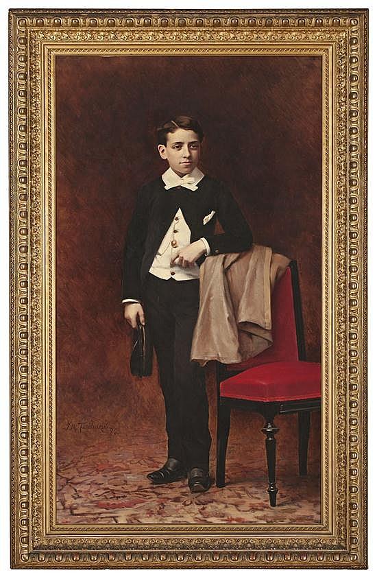 Josep Maria Tamburini Barcelona 1856 - 1932 Retrato de Juan de Dios Roca Óleo sobre lienzo