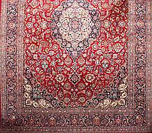 A Persian wool carpet, from the early 20th Century