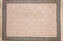 Alfombra oriental en lana, del siglo XX