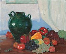 Ramón Pichot Gironés Barcelona 1871 - París 1925 Bodegón Óleo sobre lienzo