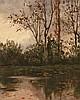 Aureli Tolosa Barcelona 1861 - 1938 Paisaje Óleo sobre lienzo pegado a tabla, Aureli Tolosa, Click for value