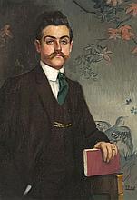 Ramón Pichot Gironés Barcelona 1871 - París 1925 Retrato del escritor Eduardo Marquina Óleo sobre lienzo