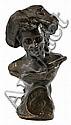 Torcuato Tasso Nadal Barcelona 1852 - Buenos Aires 1935. Joven con sombrero Busto en bronce de pátina oscura. Hacia 1900, Torcuat Tasso, Click for value