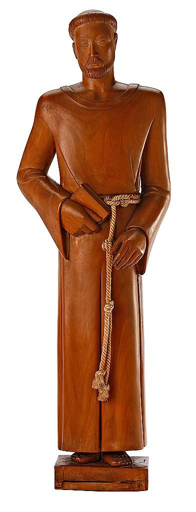 Martí Llauradó Mariscot Barcelona 1903 - 1957. San Francisco de Asís Escultura en madera de boj.
