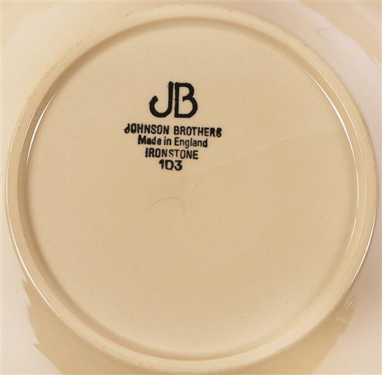 English set of crockery 12 covers in pottery by johnson br - Johnson brothers vajilla ...