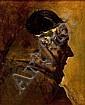 Ignacio Pinazo Camarlench Valencia 1849 - Godella 1916 Busto de un fraile Óleo sobre lienzo, Ignacio Pinazo, Click for value