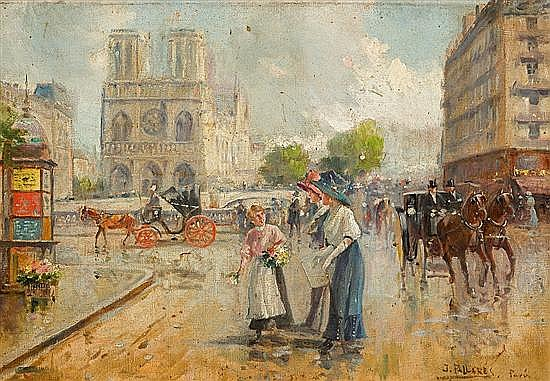 Joaquín Pallarés Allustante Zaragoza 1853 - 1935 París Óleo sobre lienzo