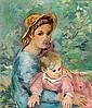 Pere Creixams Barcelona 1893 - 1965 Niños Óleo sobre lienzo, Pere Créixams Picó, Click for value