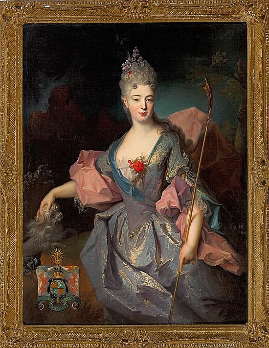 Federico de Madrazo y Kuntz Roma 1815 - Madrid 1894 Retrato de Lady Mary Josephine Drummond, Condesa de Castelblanco Óleo sobre lien...