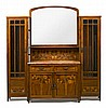 Gaspar Homar Buñola,. Mallorca 1870 - Barcelona 1955. Display with cabinets. Olive wood, walnut and fine wood marquetry. Made in 1912., Gaspar Homar, Click for value