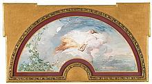 Charles Chaplin Les Andelys 1825 - Paris 1891  Terpsichore Gouache on vellum Signed 32x69 cm