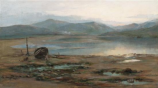 Attributed to Félix Resurrección Hidalgo Binondo 1855 - Barcelona 1913  Beach Oil on cavas  With signature  61x107 cm